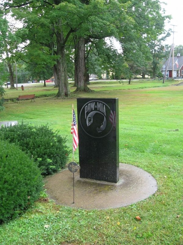 POW-MIA Monument next to the Veterans Monument image. Click for full size.