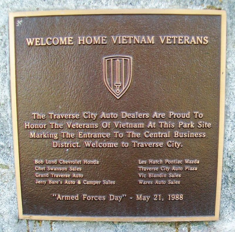 Welcome Home Vietnam Veterans Marker image. Click for full size.