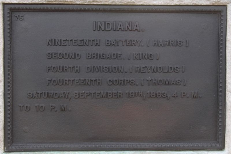 19th Indiana Battery Marker image. Click for full size.