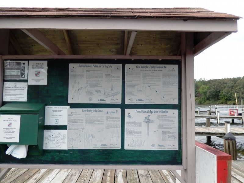 Boating Do's and Don'ts in Smallwood State Park image. Click for full size.