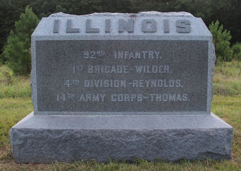 92nd Illinois Infantry Marker image. Click for full size.