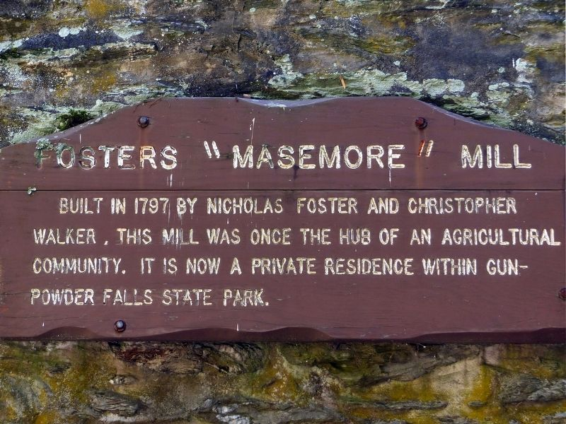 "Fosters ""Masemore"" Mill Marker image. Click for full size."