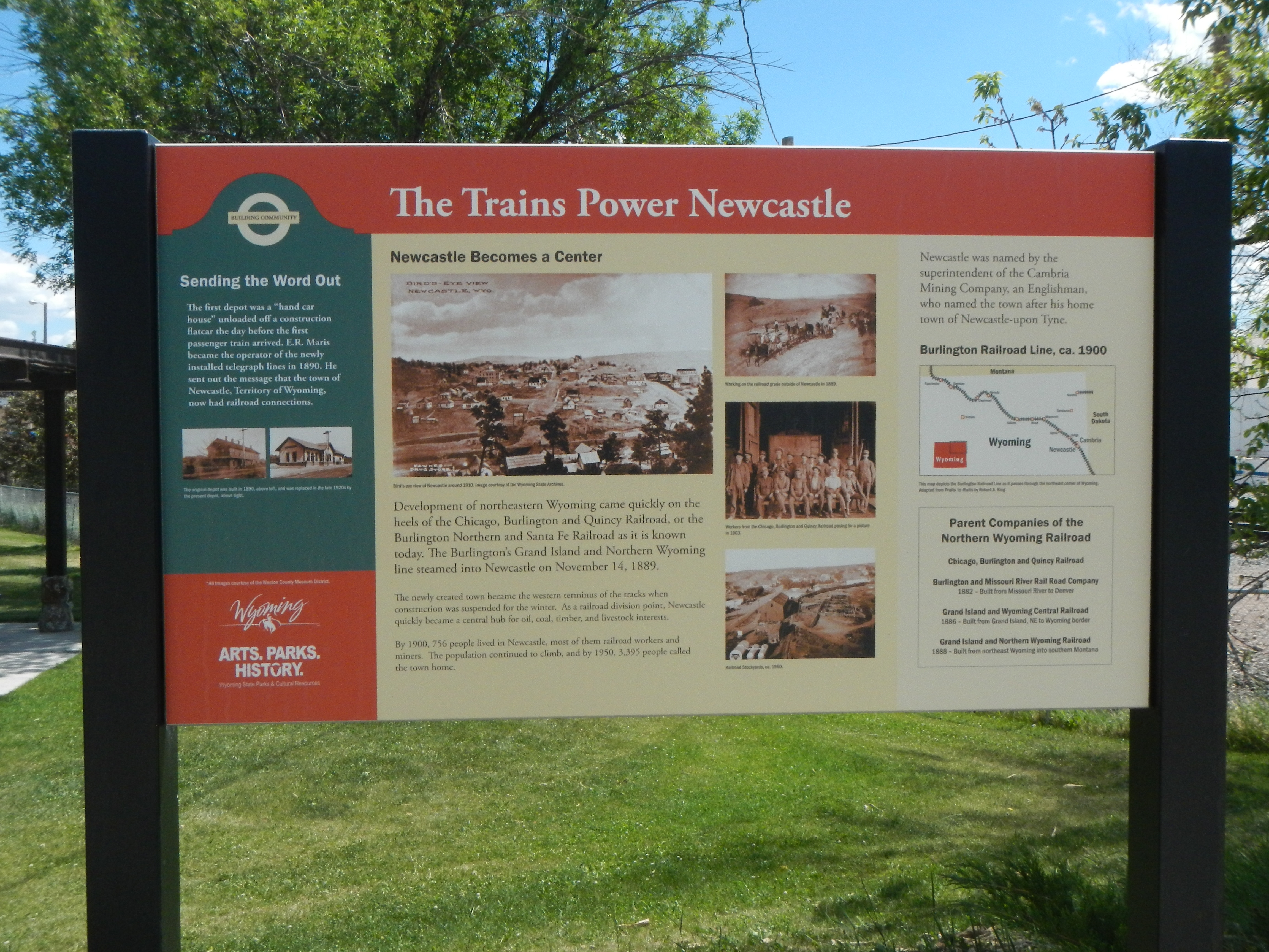 The Trains Power Newcastle Marker