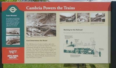 Cambria Powers the Trains Marker image. Click for full size.