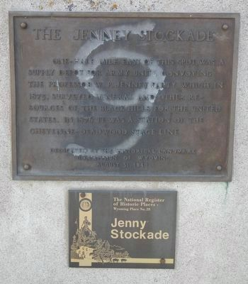 The Jenney Stockade Marker image. Click for full size.