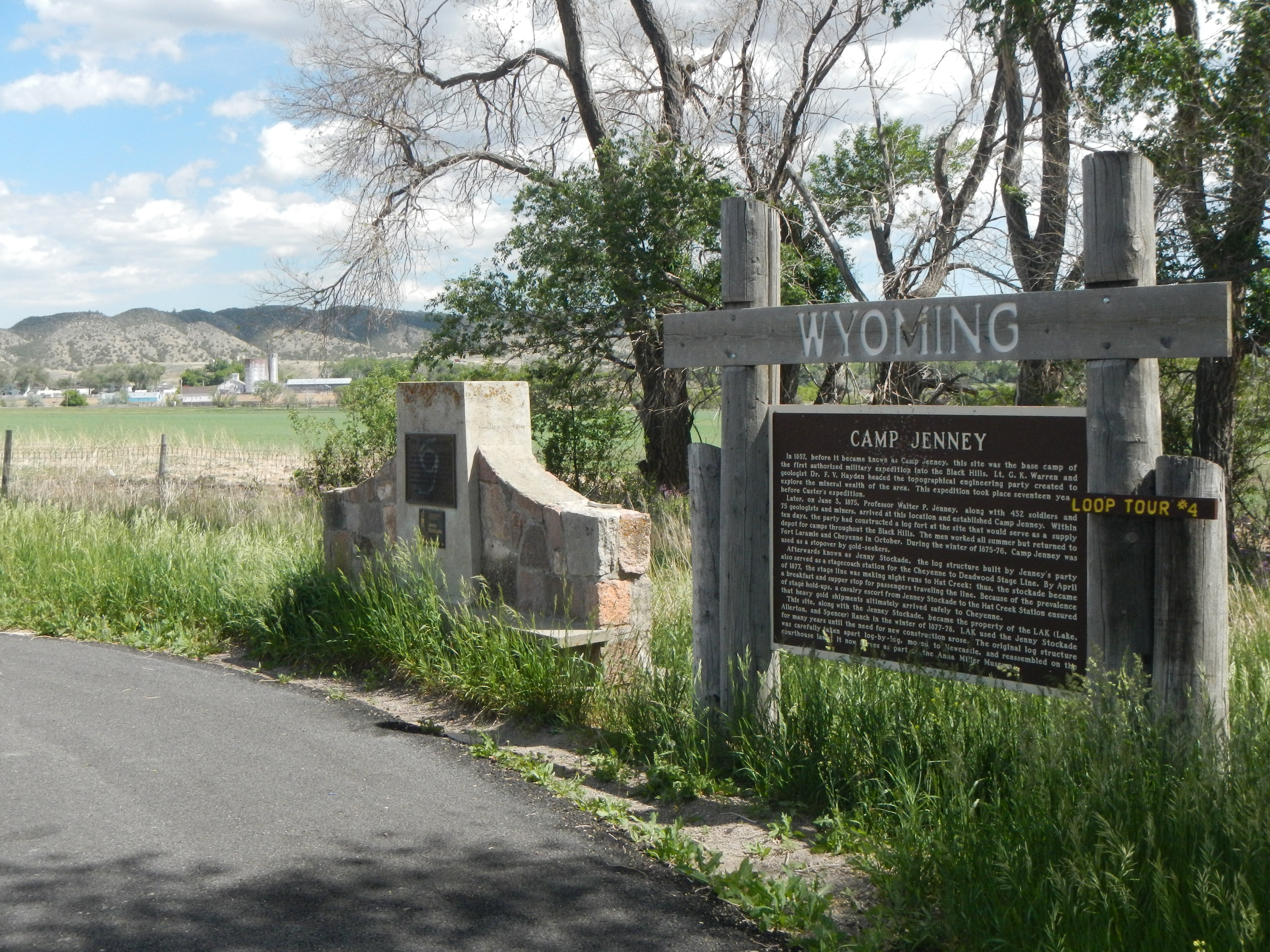 The Jenney Stockade Marker