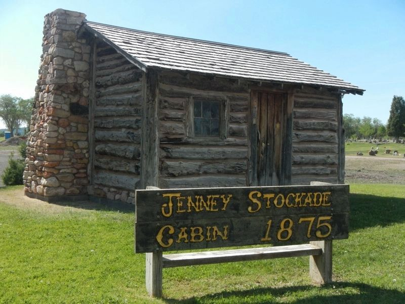 Jenney Stockade Cabin - 1875 image. Click for full size.