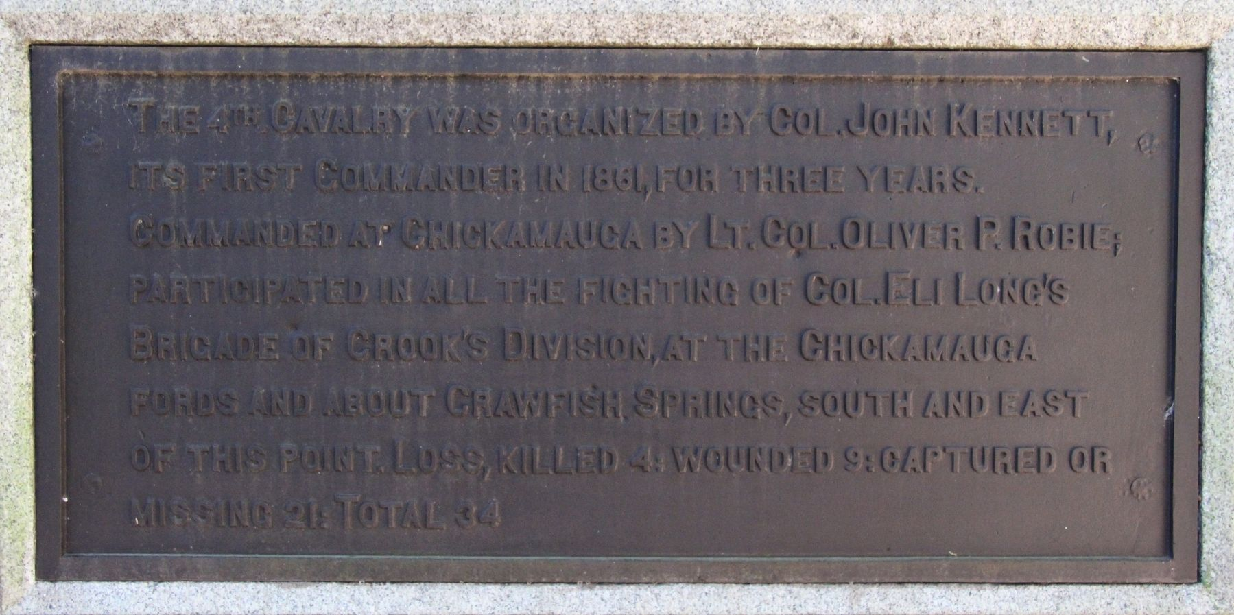 4th Ohio Cavalry Marker image. Click for full size.