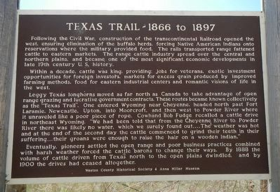 Texas Trail - 1866 to 1897 Marker image. Click for full size.