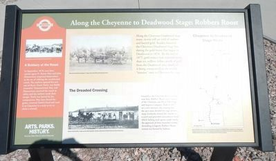 Along the Cheyenne to Deadwood Stage: Robber's Roost Marker image. Click for full size.