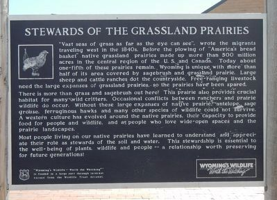 Stewards of the Grassland Prairies Marker image. Click for full size.
