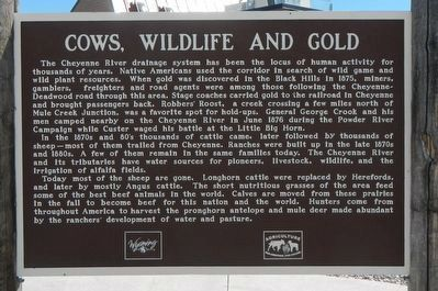 Cows, Wildlife and Gold Marker image. Click for full size.