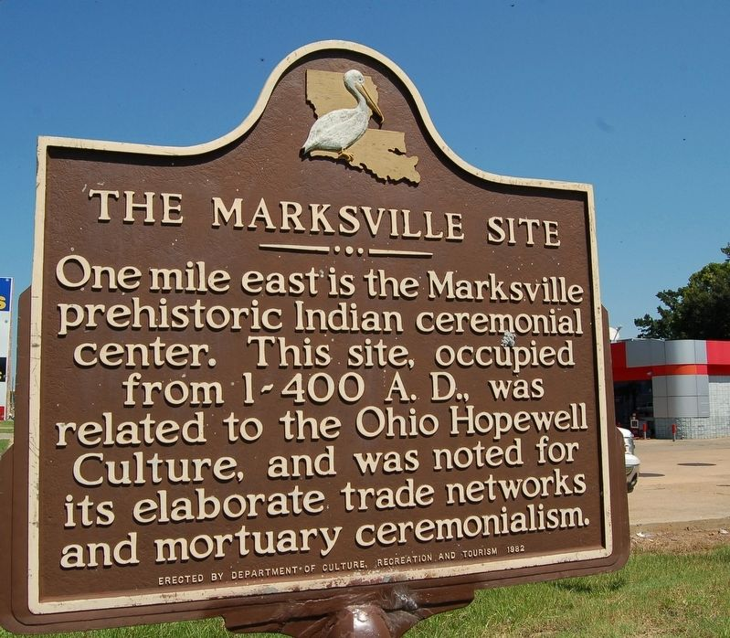 The Marksville Site Marker image. Click for full size.