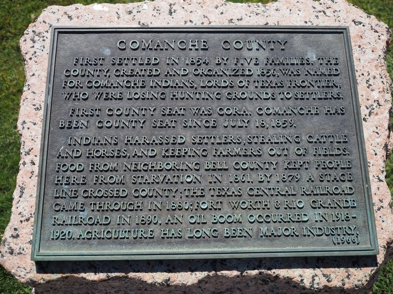 Comanche County Marker image. Click for full size.