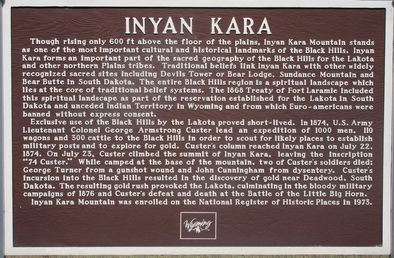 Inyan Kara Marker image. Click for full size.