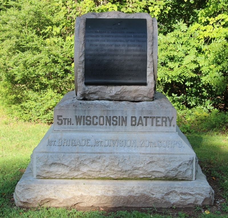 5th Wisconsin Battery Marker image. Click for full size.