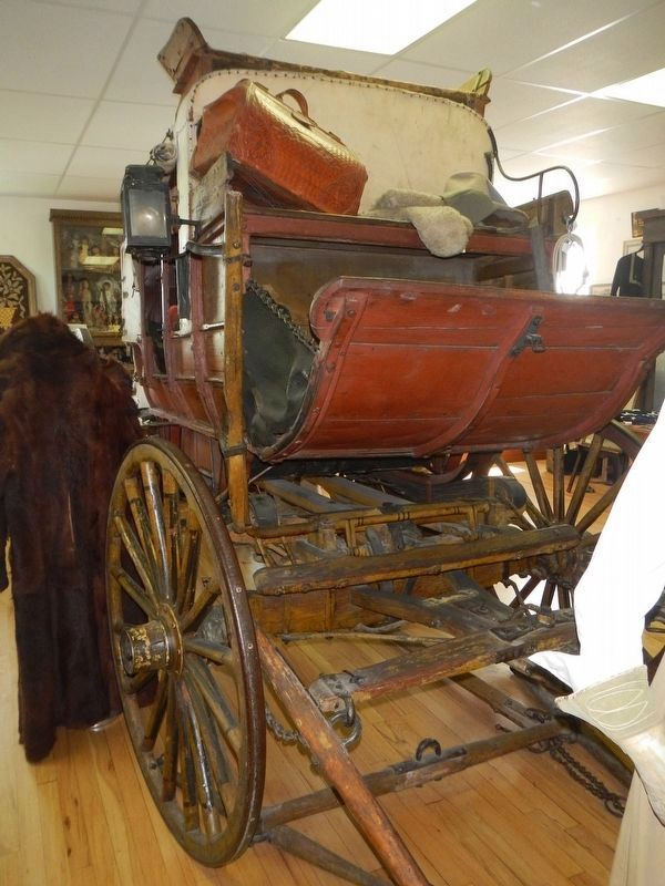 Cheyenne-Deadwood Stagecoach in the Lusk Museum image. Click for full size.