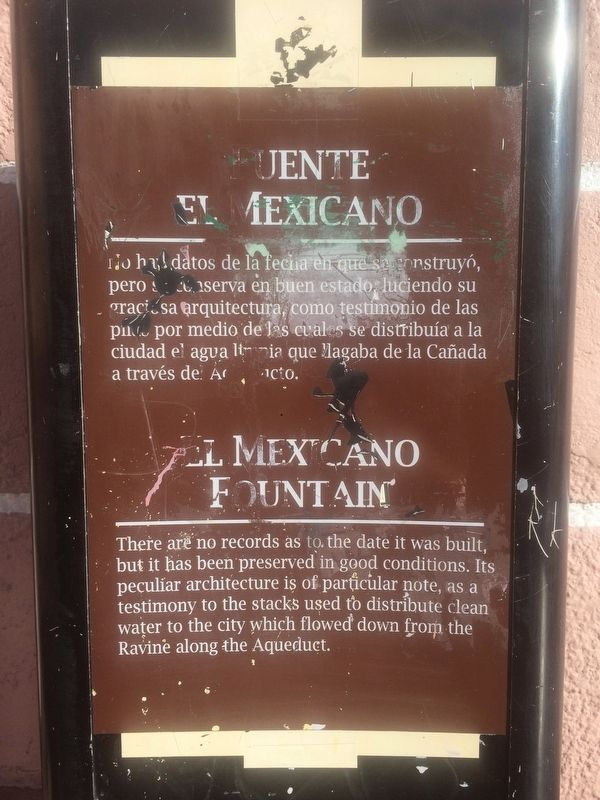 The previous El Mexicano Fountain Marker image. Click for full size.