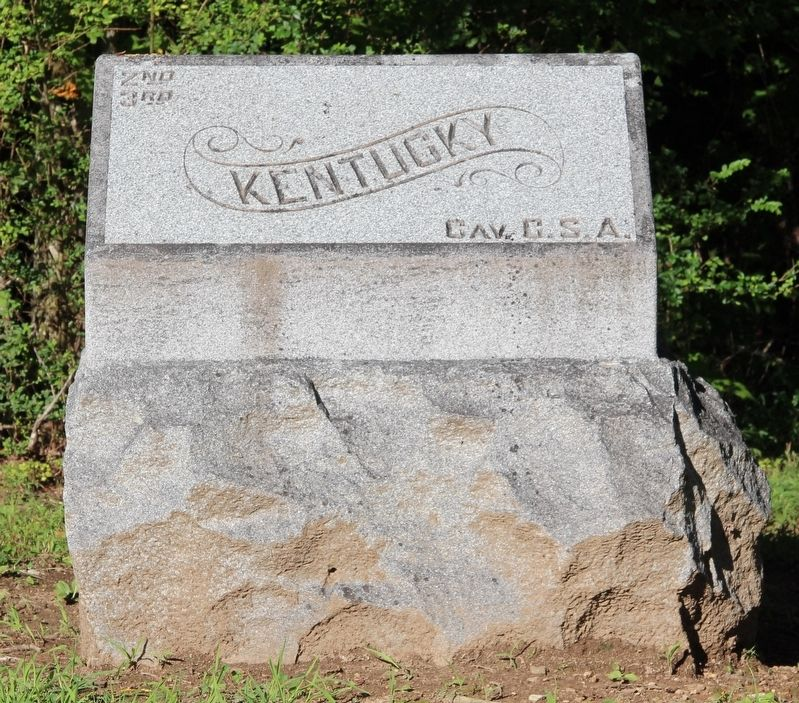 2nd & 3rd Kentucky Cavalry (C.S.A.) Marker image. Click for full size.