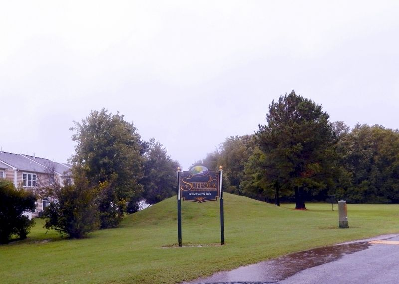 Sign at the entrance to Bennett's Creek Park image. Click for full size.