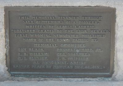Second Plaque on the George Lathrop Marker image. Click for full size.
