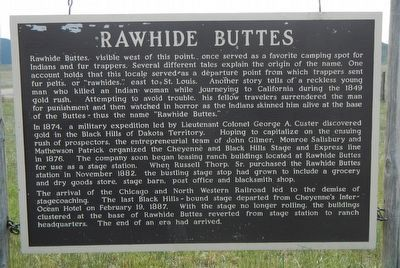 Rawhide Buttes Marker image. Click for full size.