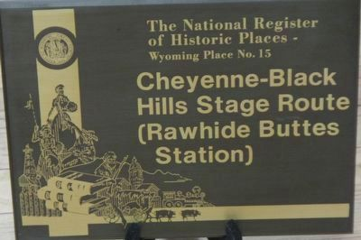 Cheyenne-Black Hills Stage Route (Rawhide Buttes Station) image. Click for full size.
