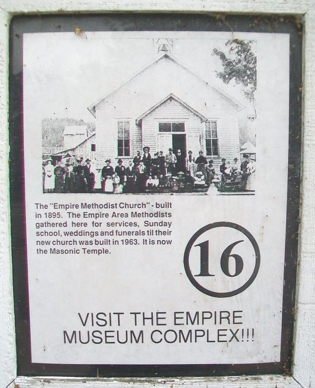 Empire Methodist Church Marker image. Click for full size.