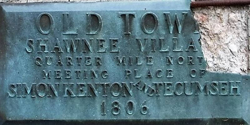 Old Town Shawnee Village Marker image. Click for full size.
