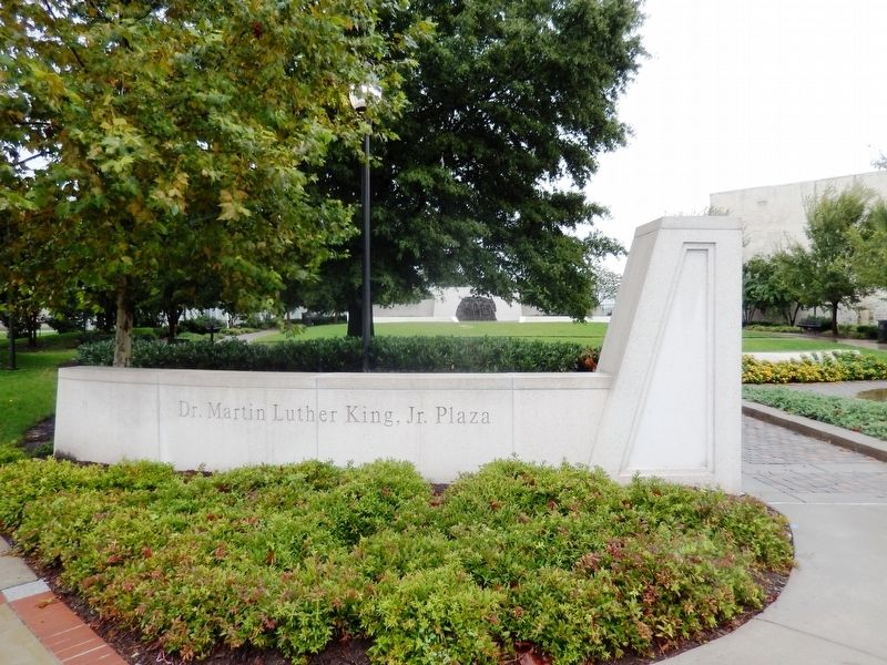 Entrance to Dr. Martin Luther King Jr, Plaza image. Click for full size.