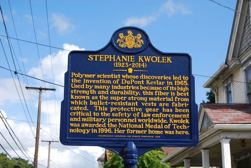 Stephanie Kwolek Marker image. Click for full size.