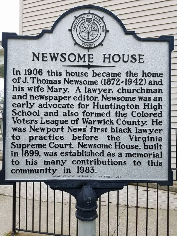Newsome House Marker image. Click for full size.