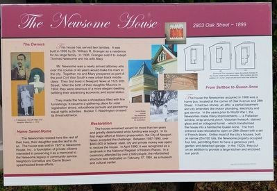 The Newsome House Marker image. Click for full size.