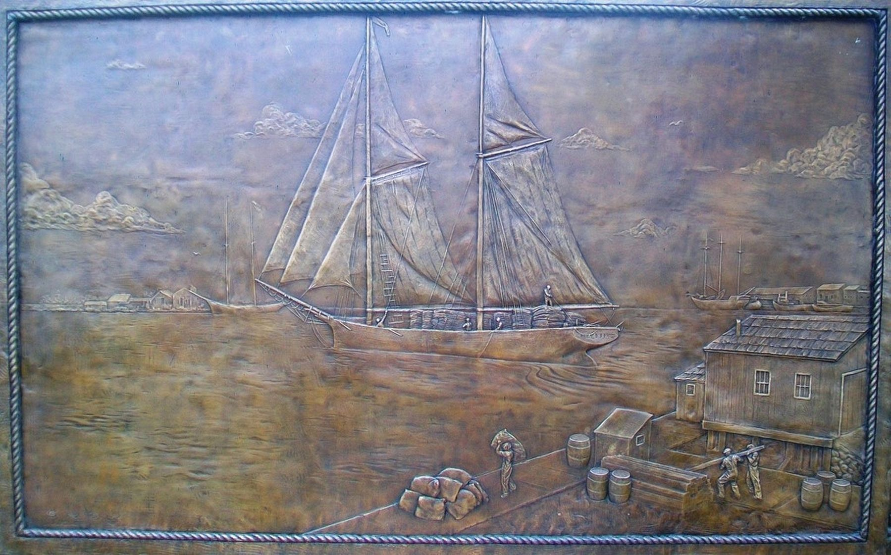 """The Abbie"" Bas Relief image. Click for full size."