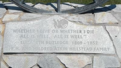 Elizabeth Rutledge Memorial image. Click for full size.