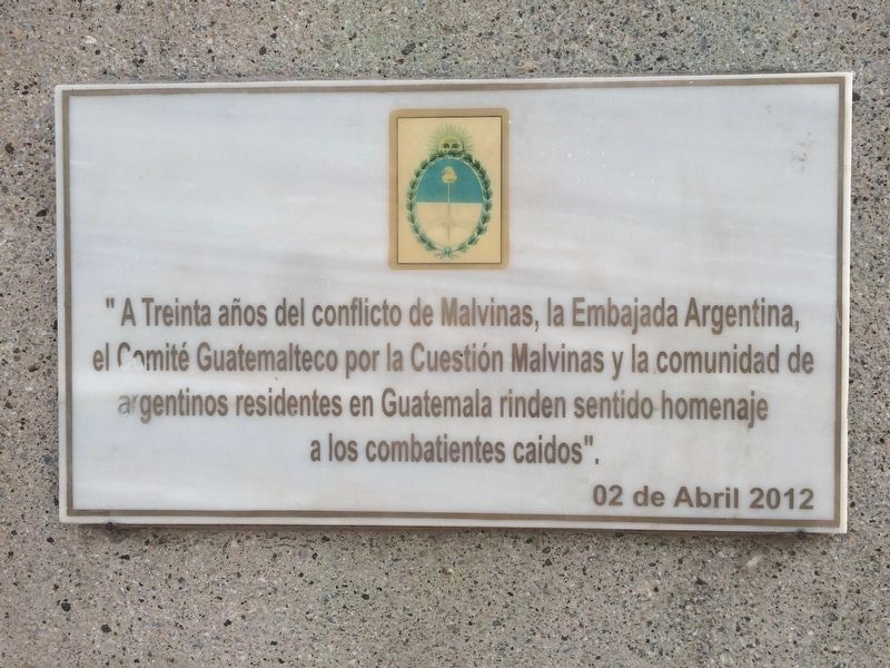 Malvinas (Falklands Islands) additional marker image. Click for full size.