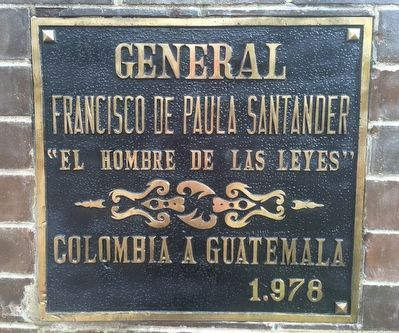 General Francisco de Paula Santander Marker image. Click for full size.