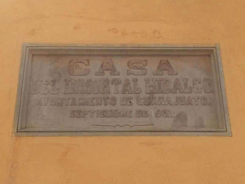 Additional marker on the Hidalgo House and Museum image. Click for full size.