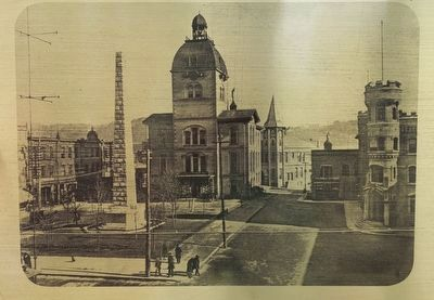The Early Years In Asheville's Historic Central Square Marker image. Click for full size.