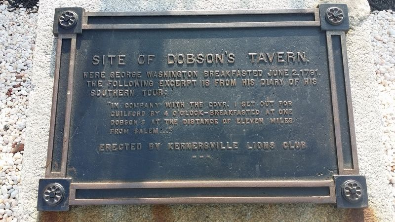Site of Dobson's Tavern Marker image. Click for full size.