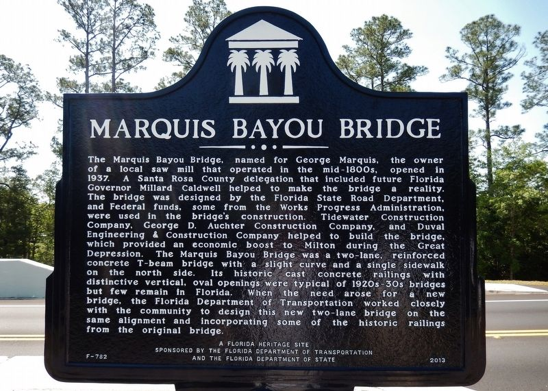 Marquis Bayou Bridge Marker image. Click for full size.