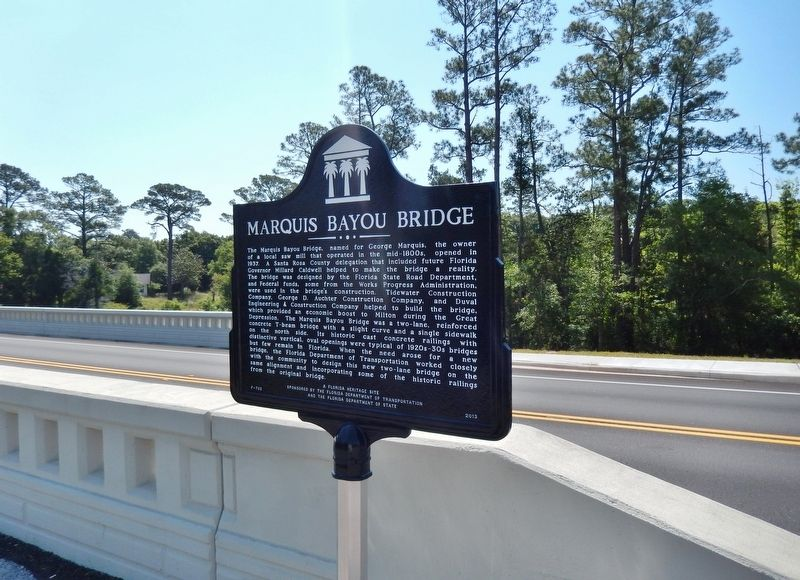 Marquis Bayou Bridge Marker (<i><b>wide view</i></b>) image. Click for full size.