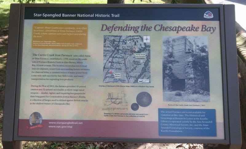 Defending the Chesapeake Bay Marker image. Click for full size.