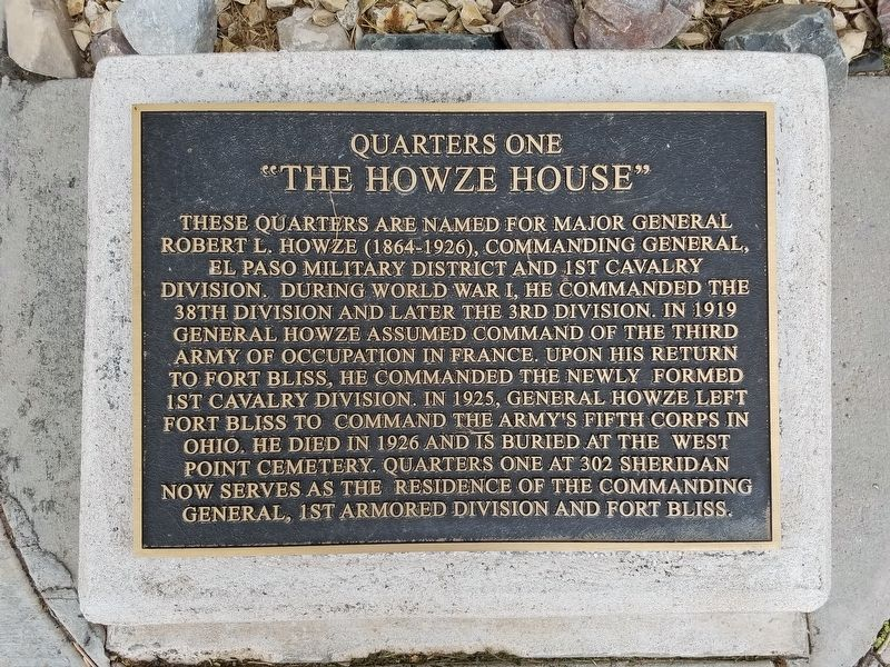 The Howze House Marker image. Click for full size.