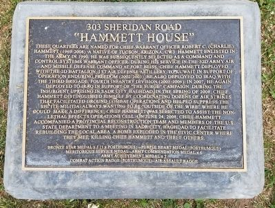 Hammett House Marker image. Click for full size.