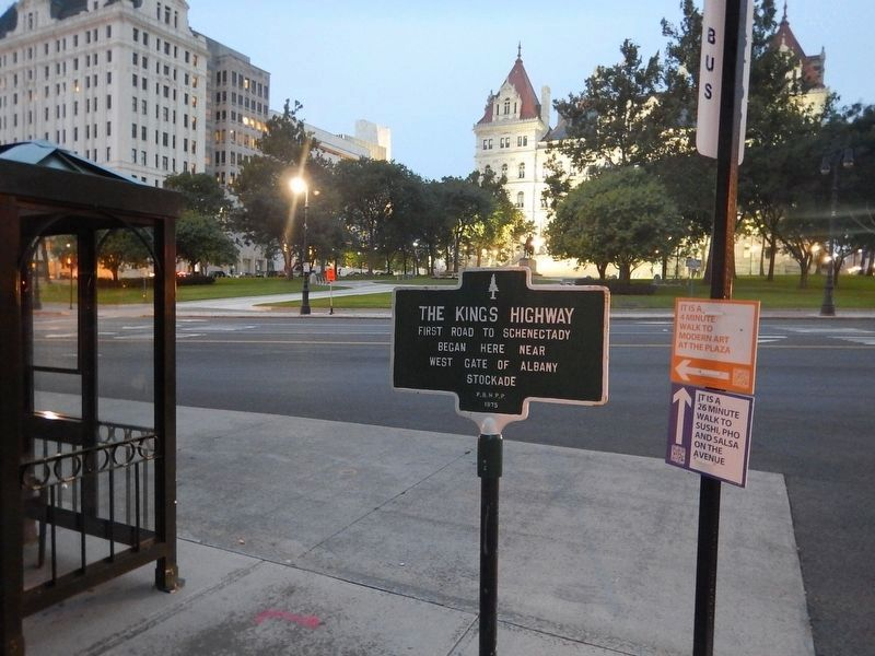 Wideview of The Kings Highway Marker image. Click for full size.
