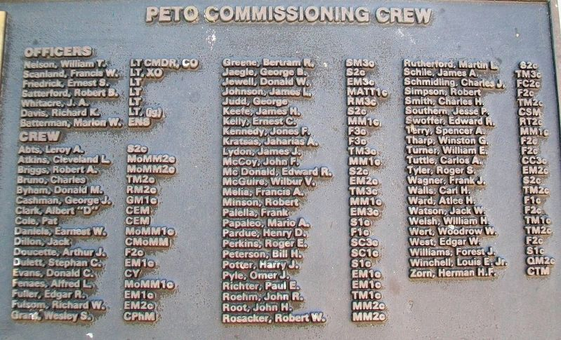 U.S.S. Peto (SS 265) Crew image. Click for full size.