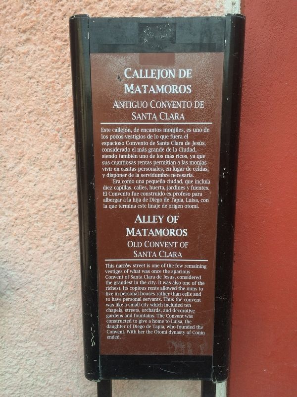 The previous Alley of Matamoros Marker image. Click for full size.