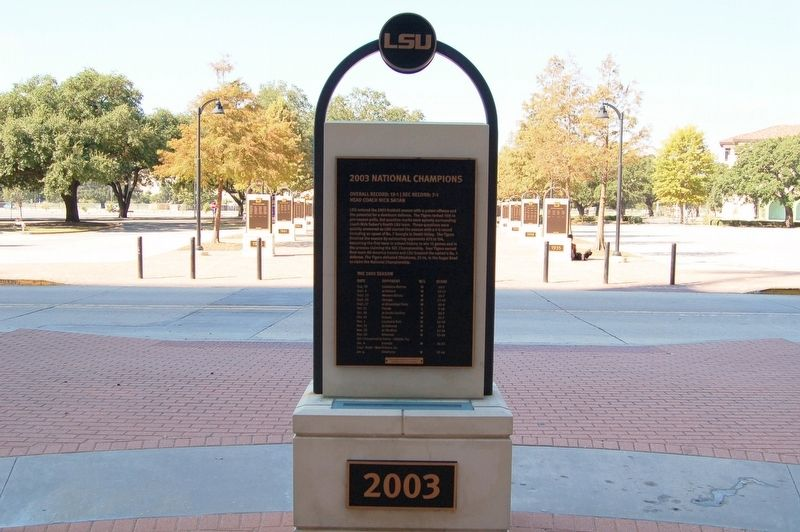 2003 National Champions Marker image. Click for full size.