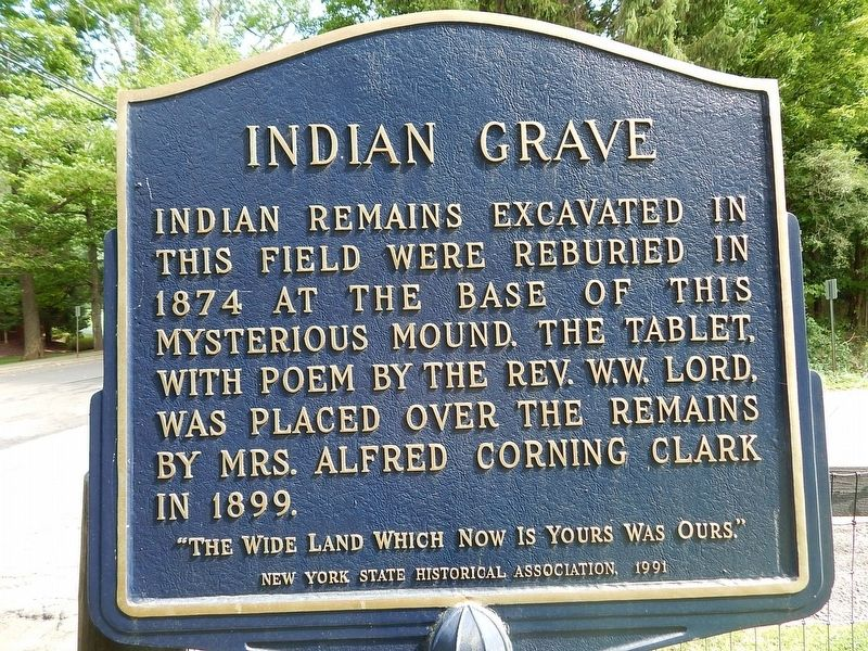 Indian Grave Marker image. Click for full size.
